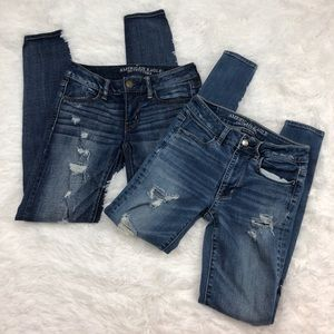 American Eagle Bundle Skinny Jeans size 2